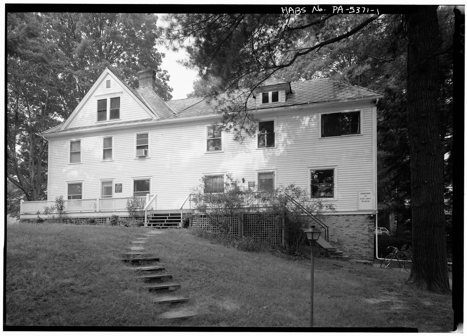 Zane Grey House, West side of Scenic Drive, Lackawaxen, Pike County, PA