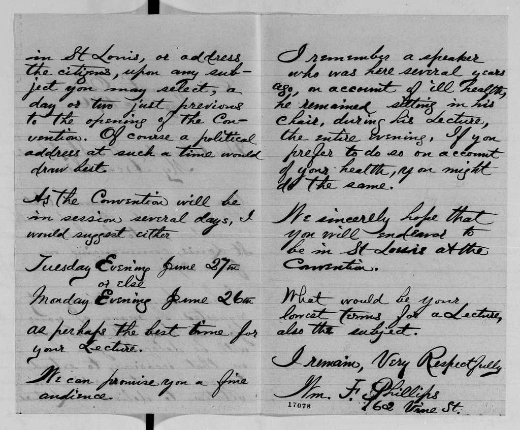 Alexander Hamilton Stephens Papers: General Correspondence, 1784-1886; 1876, Apr. 25-Aug. 4