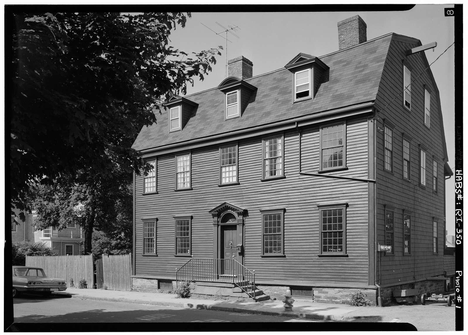 Captain John Warren House, 62 Washington Street, Newport, Newport County, RI