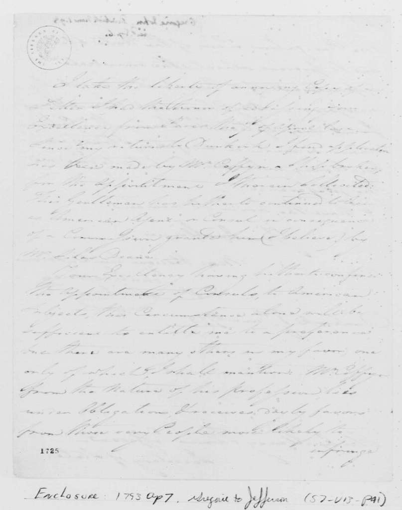 George Washington Papers, Series 7, Applications for Office, 1789-1796: John Gregorie
