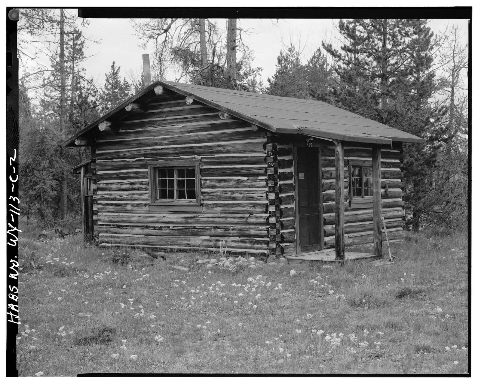 Geraldine Lucas Homestead, Naomi Colwell Cabin, West bank Cottonwood Creek, 2.5 miles downstream from Jenny Lake, Moose, Teton County, WY