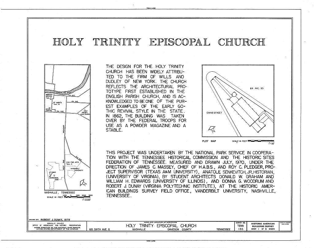 Holy Trinity Episcopal Church, 615 Sixth Avenue, South, Nashville, Davidson County, TN