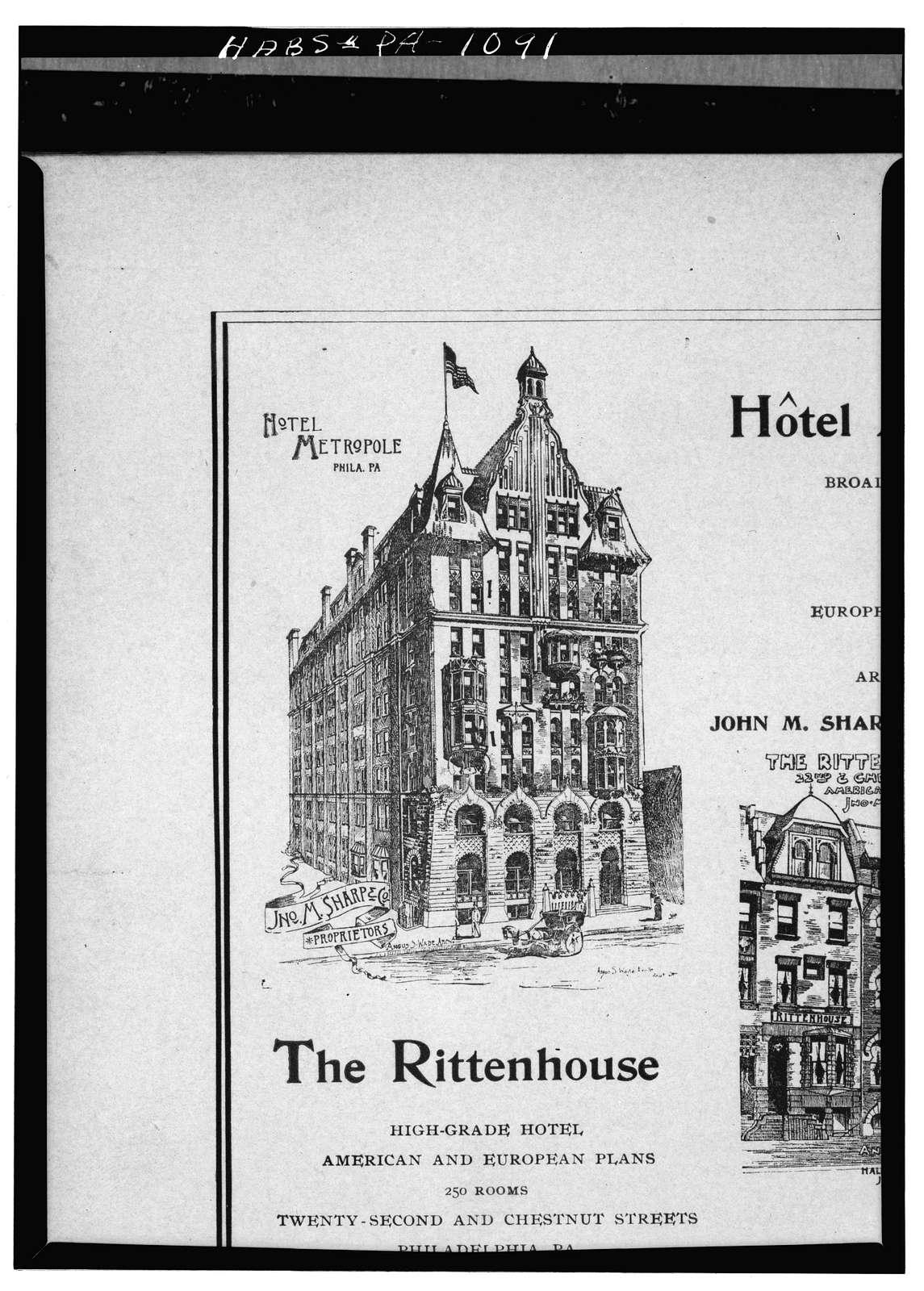 Hotel Walton, Broad & Locust Streets, Philadelphia, Philadelphia County, PA