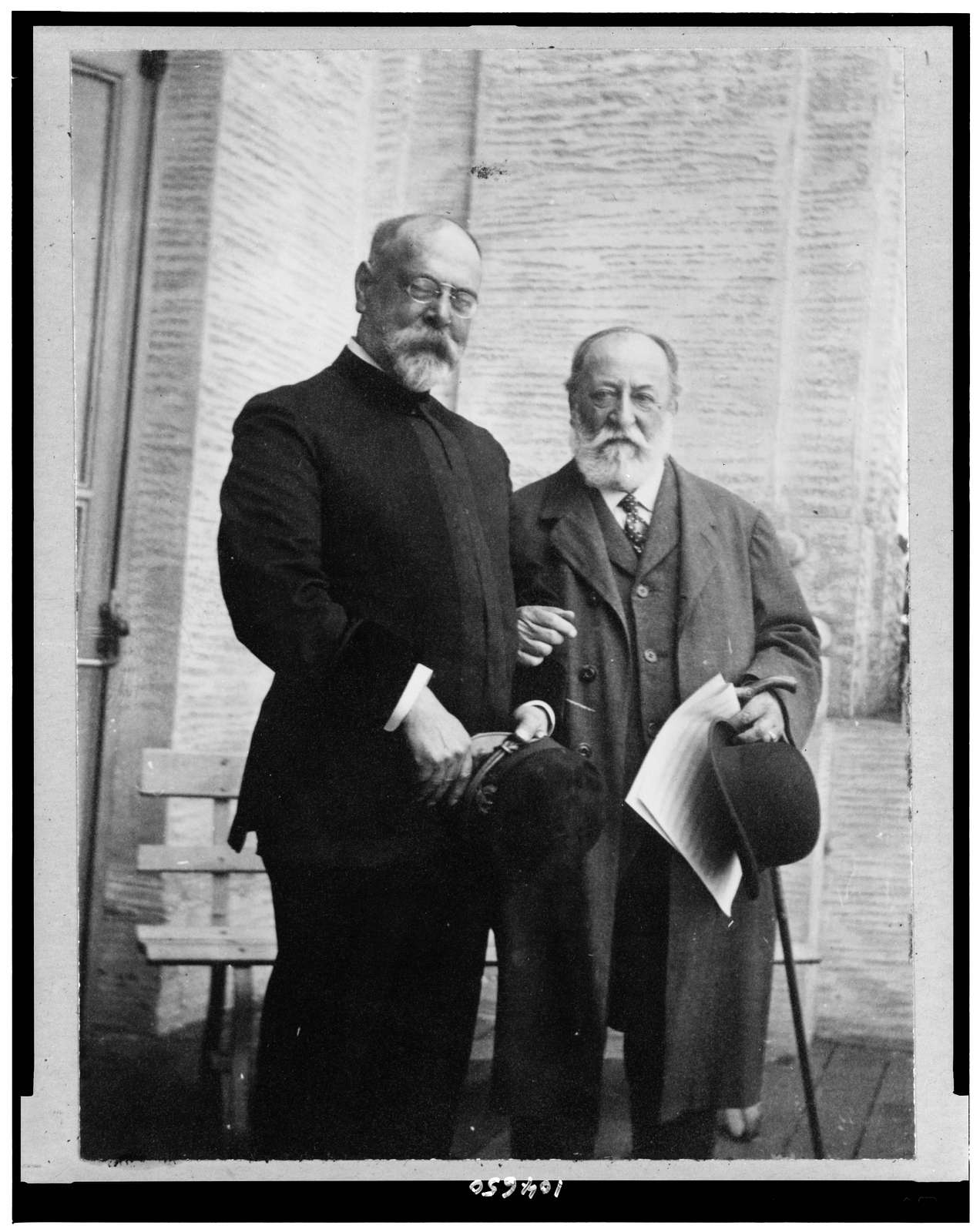 [John Philip Sousa standing with Camille Saint-Saëns]