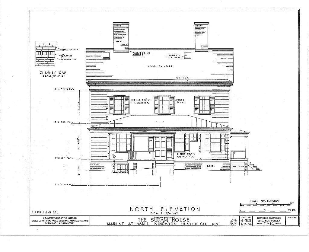 John Sudam House, Wall & Main Streets, Kingston, Ulster County, NY