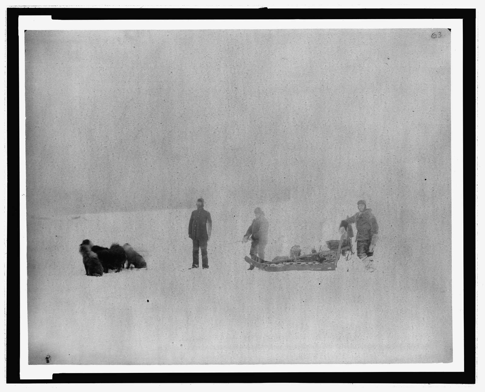 [Lady Franklin Bay Expedition members Sgt. Jewell and Eskimo Christansen starting from Ft. Conger to support Dr. Octave Pavy, March, 1882]