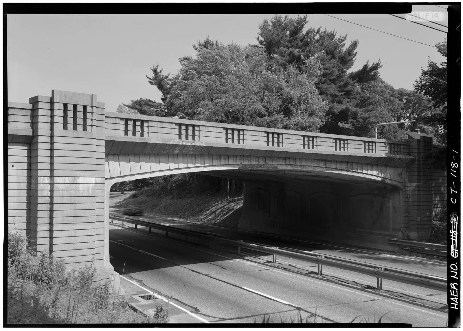 Merritt Parkway, Main Street/Route 25 Bridge, Spanning Merritt Parkway, Trumbull, Fairfield County, CT