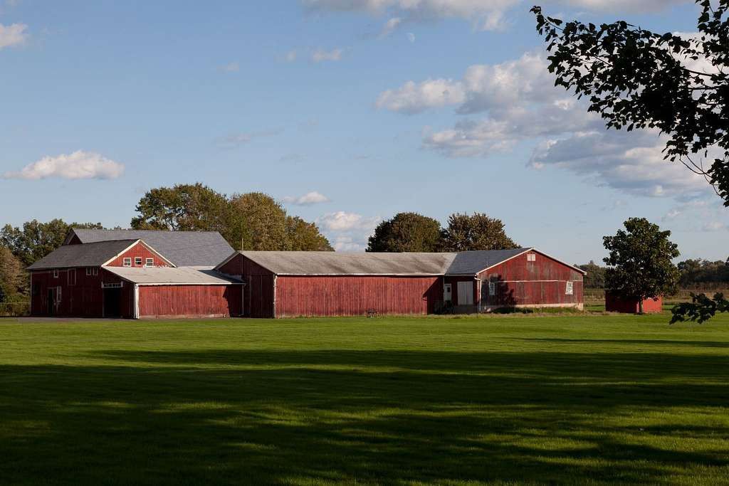 Tobacco barns in Suffield, Connecticut