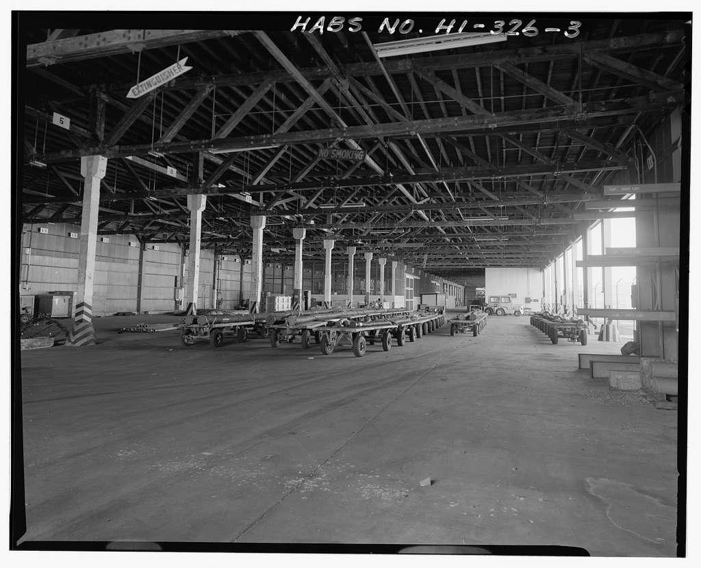U.S. Naval Base, Pearl Harbor, Waterfront Transit Shed, Corner of Northampton Avenue & Simms Street, Pearl City, Honolulu County, HI