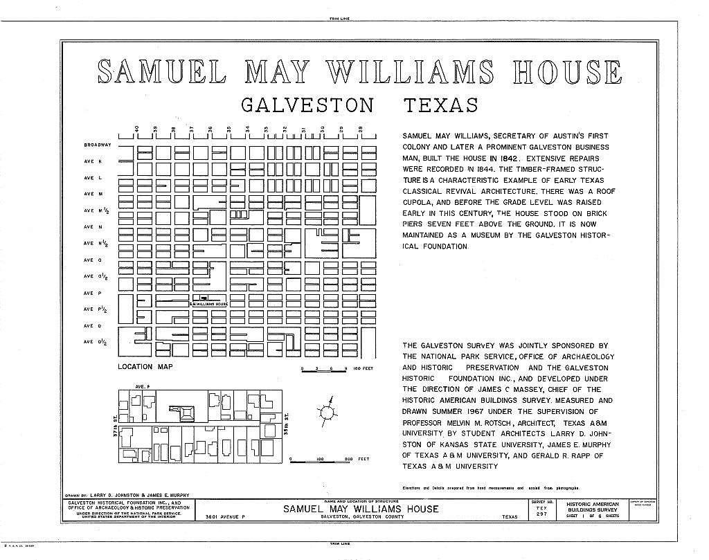 Williams-Tucker House, 3601 Avenue P, Galveston, Galveston County, TX