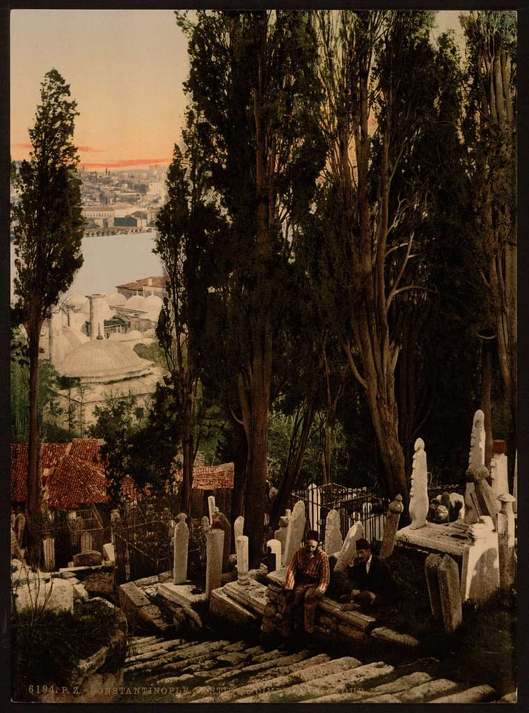 [A part of the Eyoub (i.e., Uyüp) cemetery, II, Constantinople, Turkey]