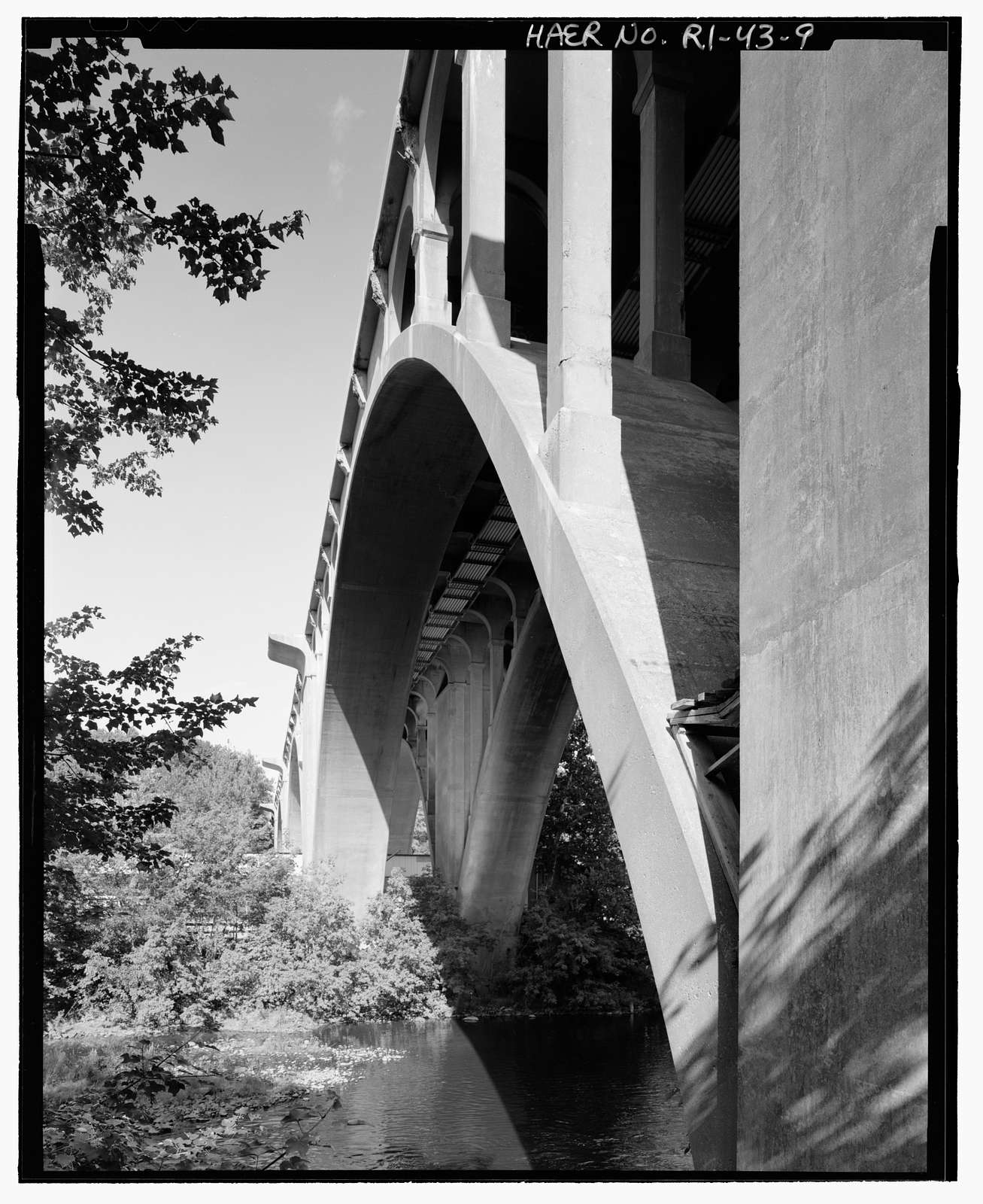 Ashton Viaduct, State Route 116 (Washington Highway) spanning Blackstone River, Blackstone Canal, & Providence & Worcester Railroad, Ashton, Providence County, RI
