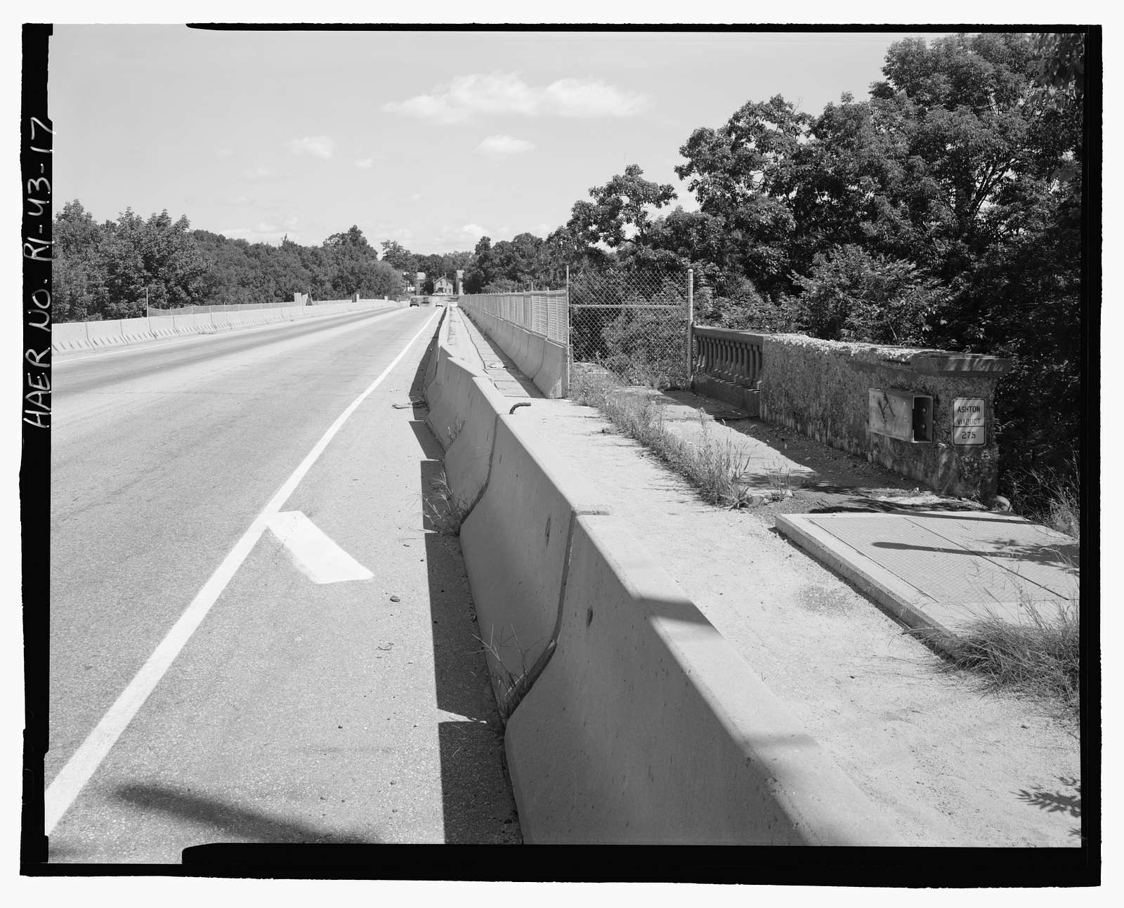 Ashton Viaduct, State Route 116 (Washington Highway) spanning Blackstone River, Blackstone Canal, & Providence & Worcester Railroad, Ashton, Providence County, RI
