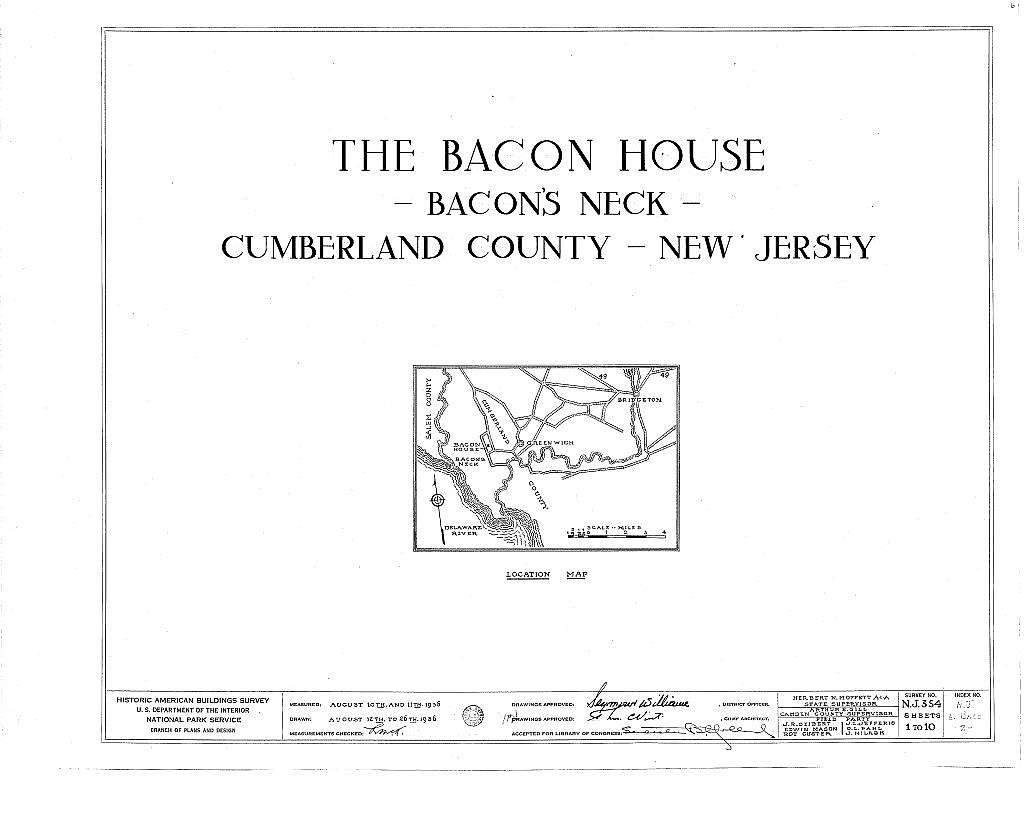 Bacon House, Greenwich, Cumberland County, NJ