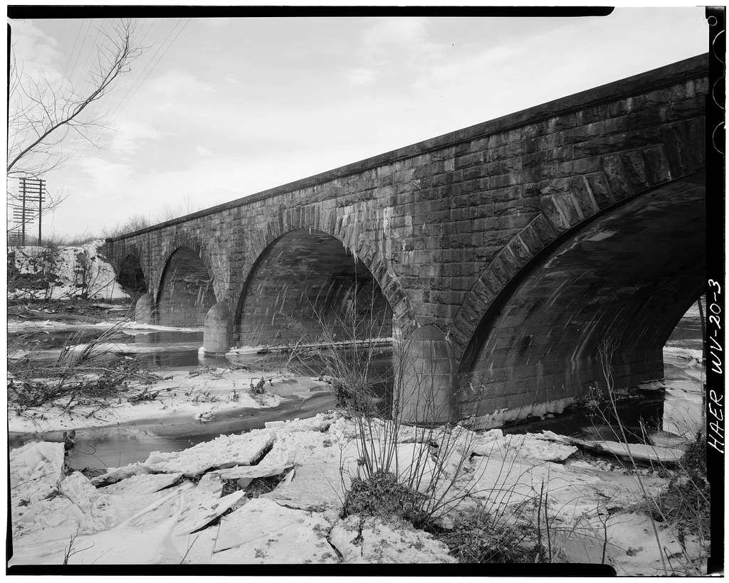 Baltimore & Ohio Railroad, Cacapon River Viaduct, Great Cacapon, Morgan County, WV