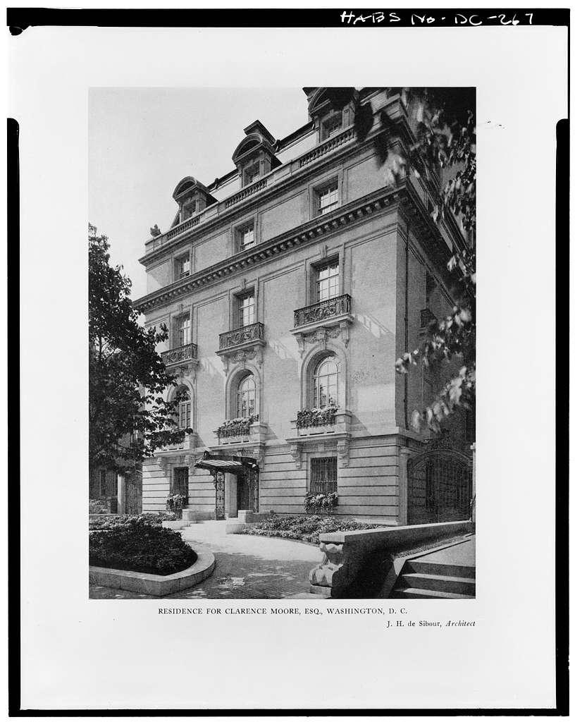 Clarence Moore House, 1746 Massachusetts Avenue Northwest, Washington, District of Columbia, DC