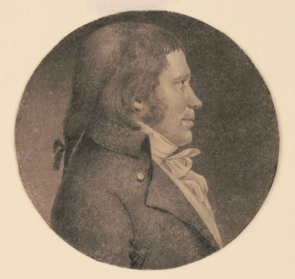 [James Machir, head-and-shoulders portrait, right profile]