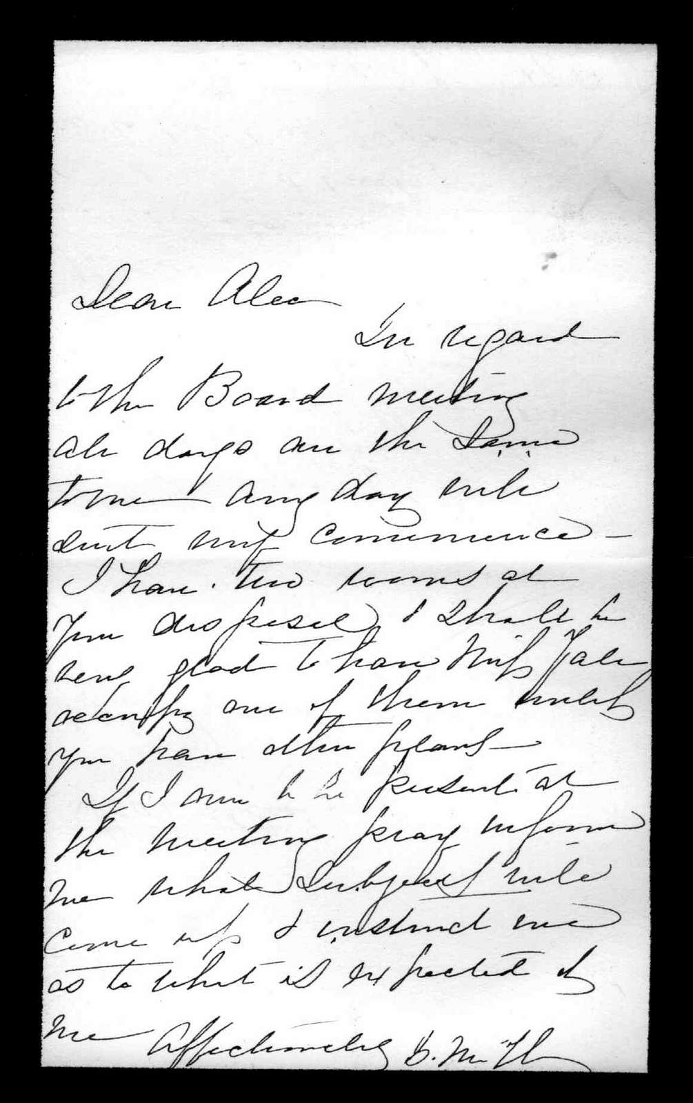Letter from Gertrude McCurdy Hubbard to Alexander Graham Bell, undated