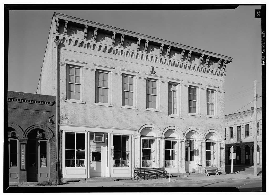 Masonic Building, California & Oregon Streets, Jacksonville, Jackson County, OR