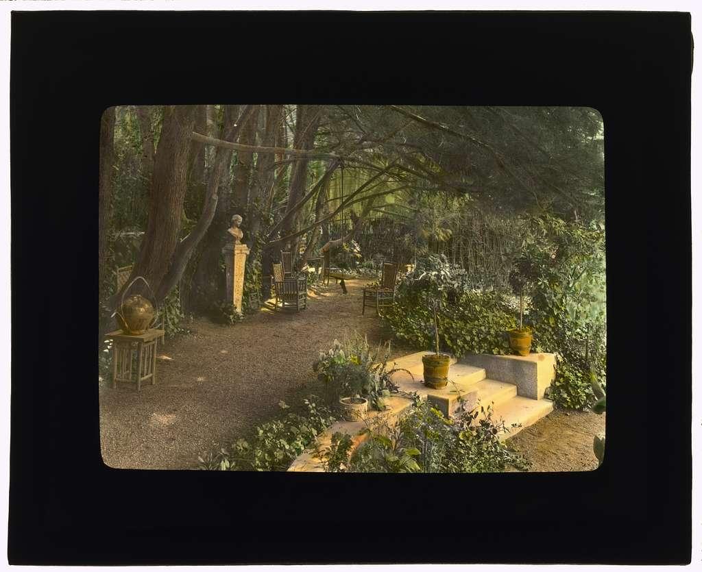[Myron Hunt house, 200 North Grand Avenue, Pasadena, California. Garden terrace]