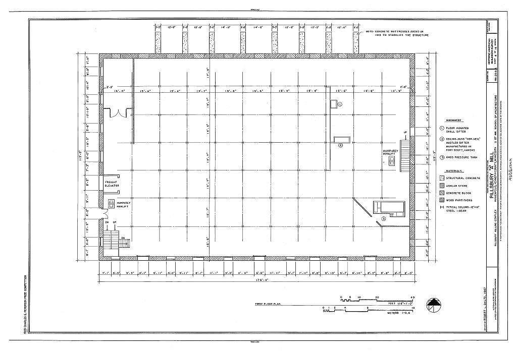 "Pillsbury Milling Complex, Pillsbury ""A"" Mill, 116 Third Avenue/301 Main Street, Southeast, Minneapolis, Hennepin County, MN"