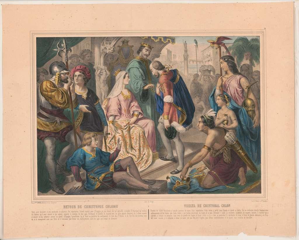 Retour de Christophe Colomb / lith. de Turgis.