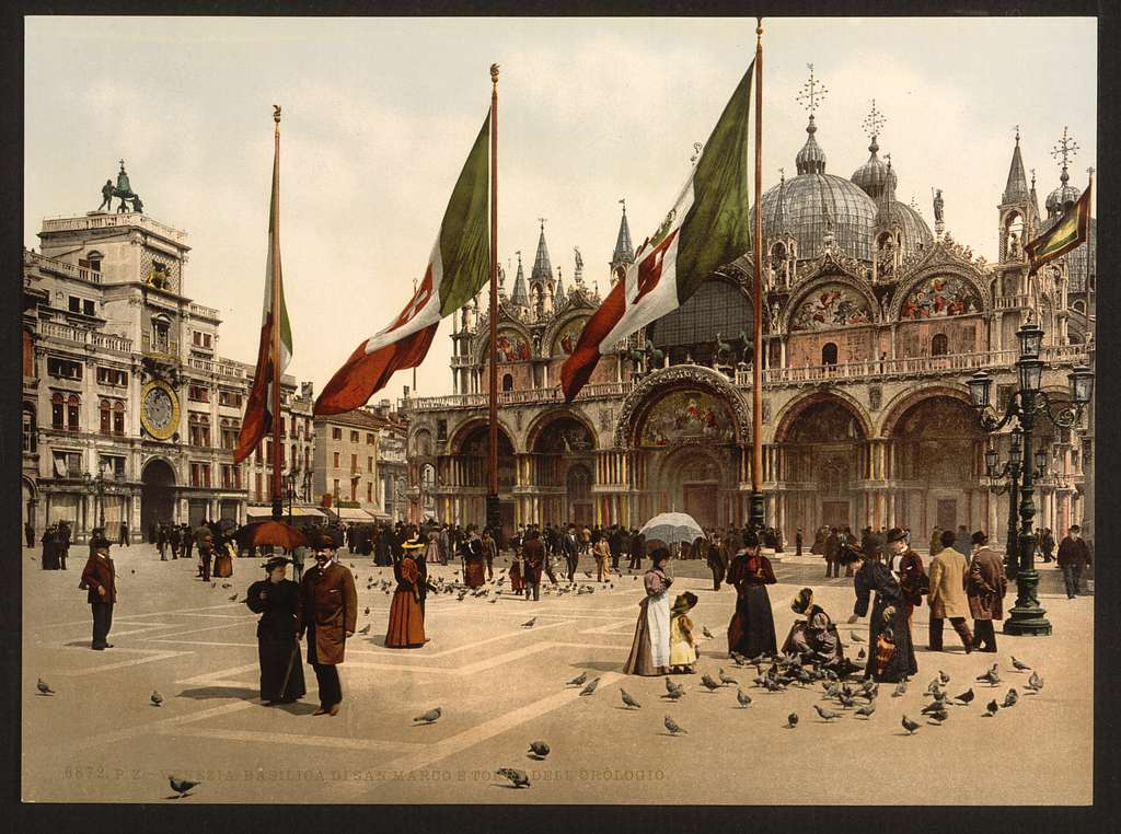 [St. Mark's Church and the clock, Venice, Italy]