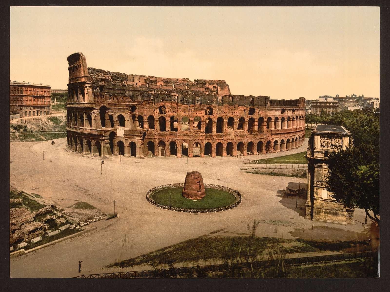 [The Colisuem and Meta Sudans, Rome, Italy]