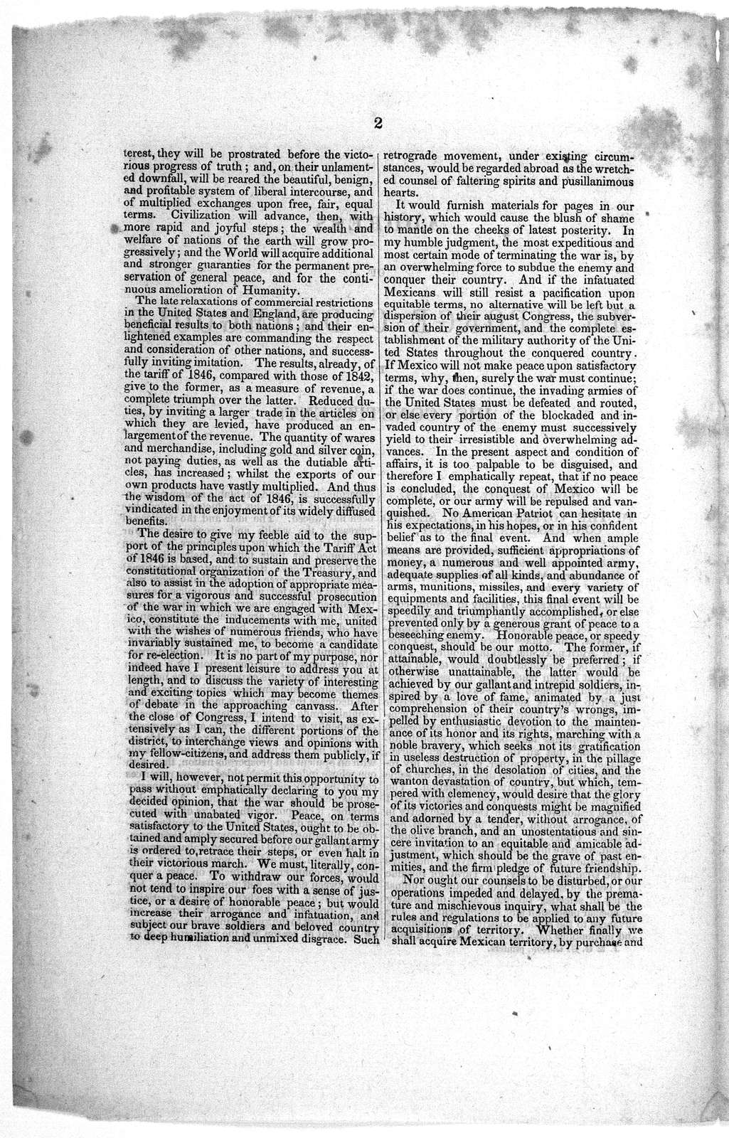 Address of Mr. George C. Dromgoole to his constituents. Washington City, Feb. 8th, 1847. To the voters of the second Congressional district. in the state of Virginia ....
