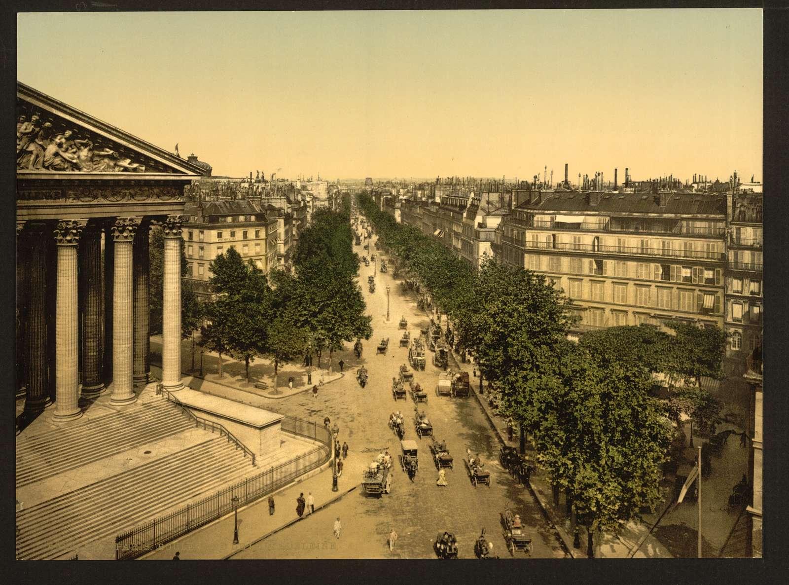 [Boulevard of the Madeline (i.e., Madeleine), Paris, France]