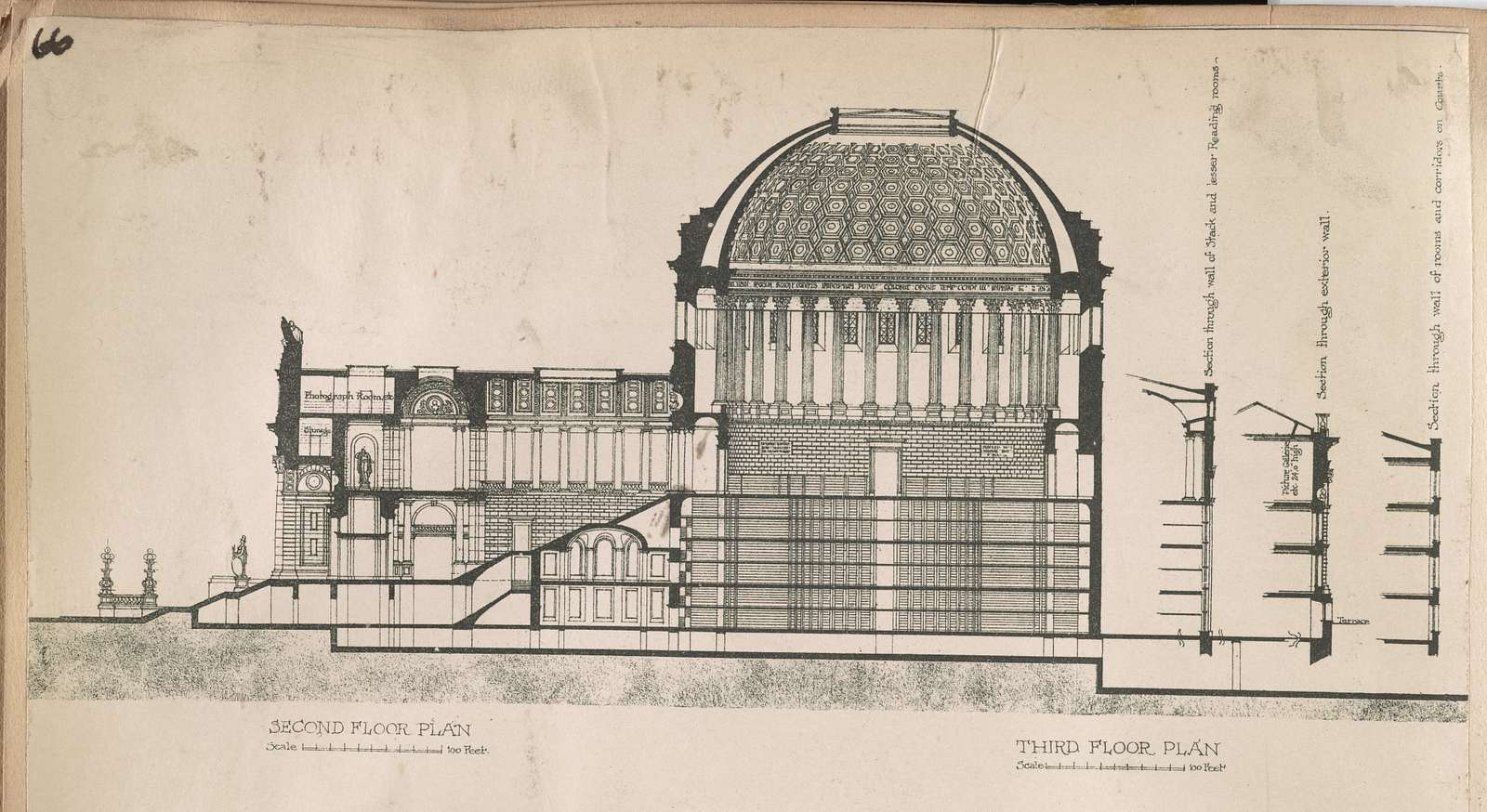 Competitive design for the New York Public Library / Brite & Bacon, architects.