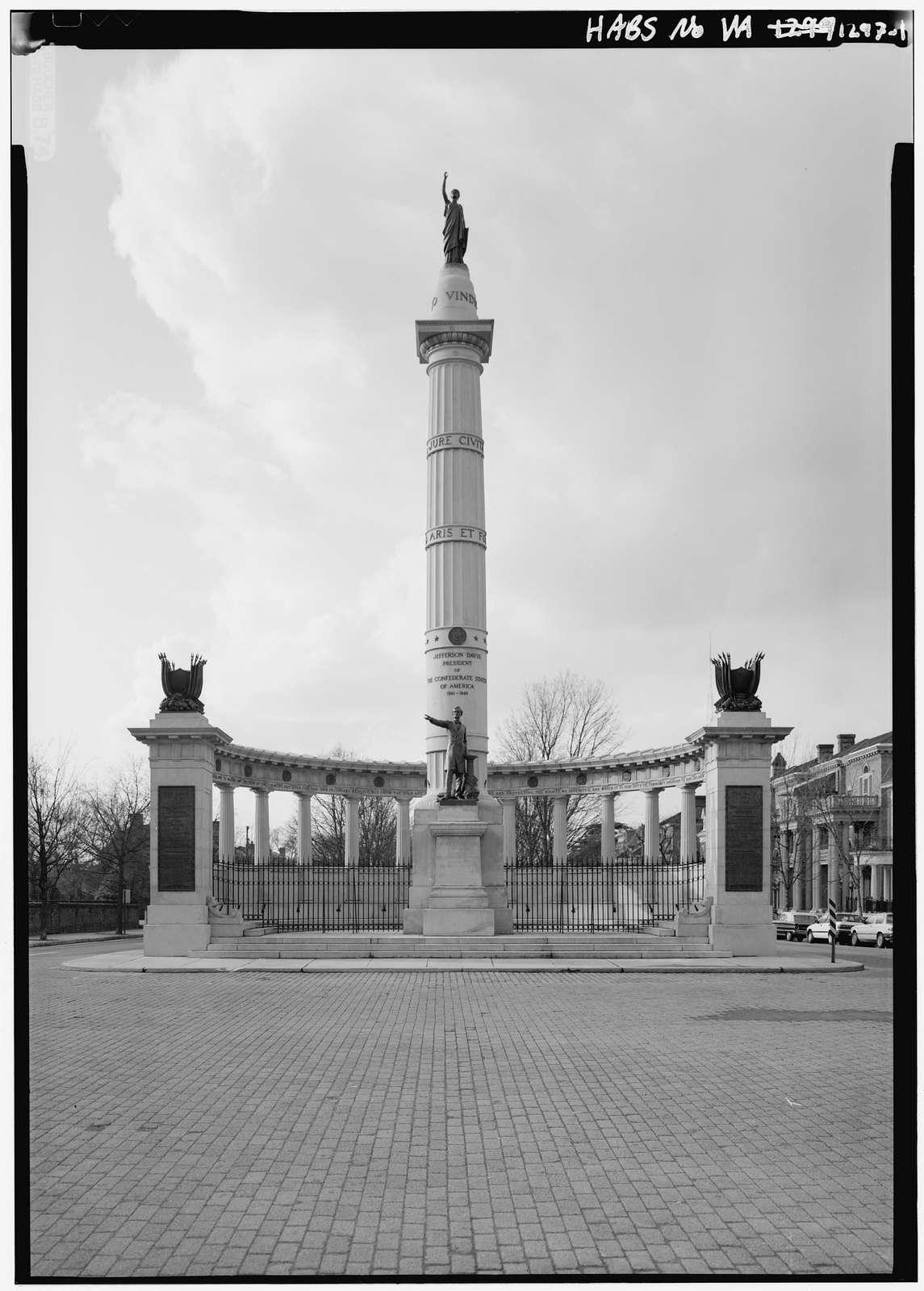 Davis Monument, Monument Avenue & Davis Avenue, Richmond, Independent City, VA