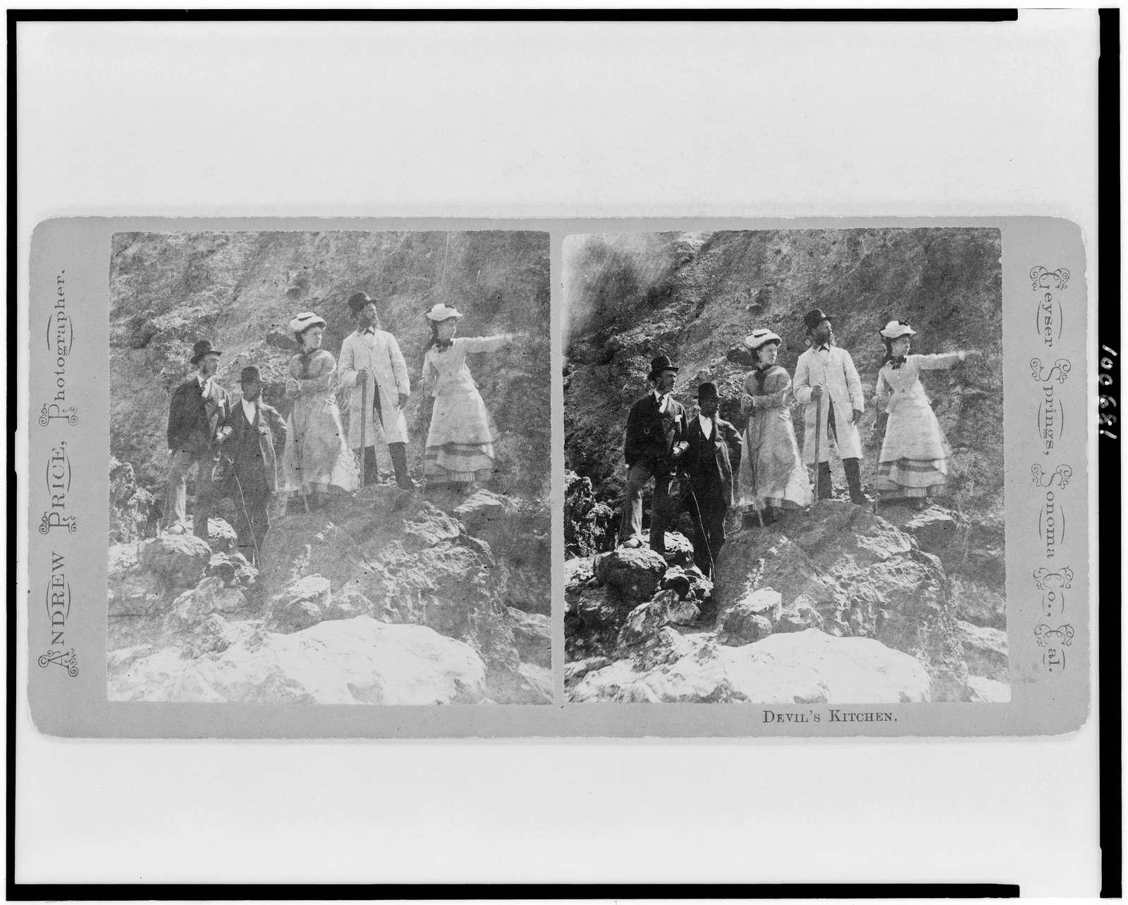 Devil's Kitchen, Geyser Springs, Sonoma Co., Cal. / Andrew Price, photographer.