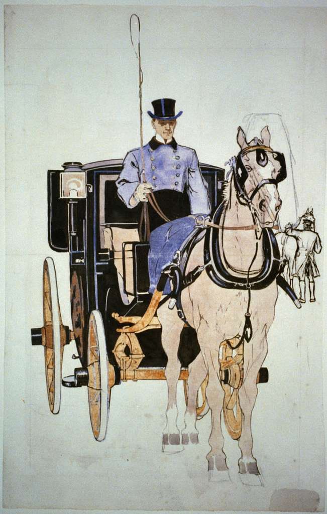 [Driver with horse and carriage]