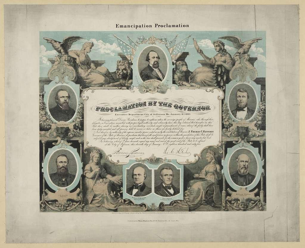 Emancipation Proclamation. Proclamation by the governor / E. Knobel, fec.