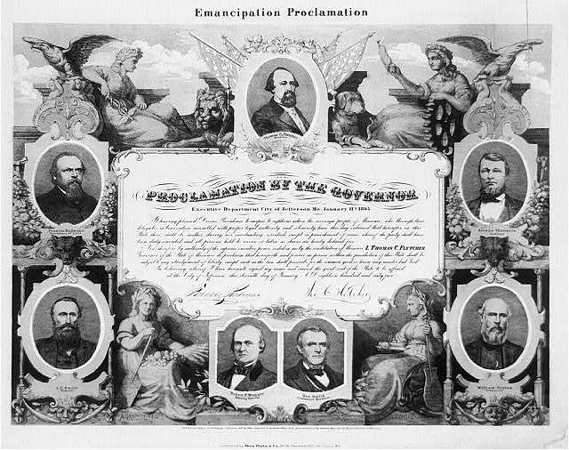Emancipation Proclamation. Proclamation by the governor / E. Knobel, fec.
