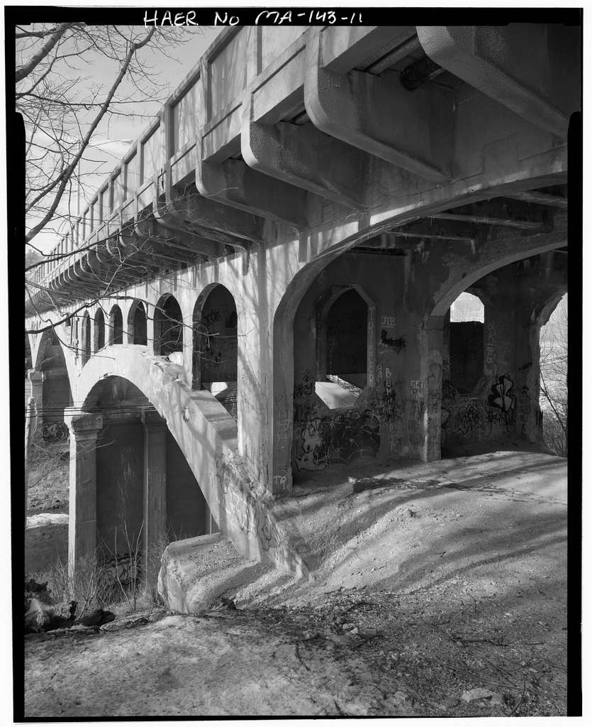 Fifth Street Bridge, Spanning MBTA Fitchburg Commuter Rail Line tracks, Conrail Fitchburg Secondary Line & North Nashua River, Fitchburg, Worcester County, MA