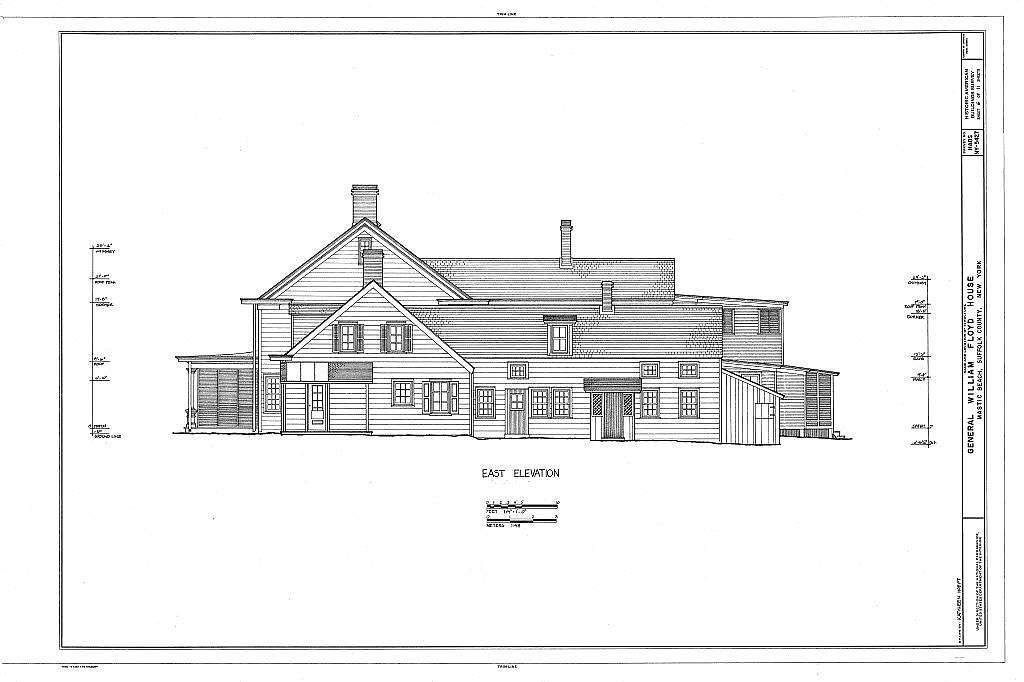 General William Floyd House, Washington Avenue & Wavecrest Drive, Mastic Beach, Suffolk County, NY