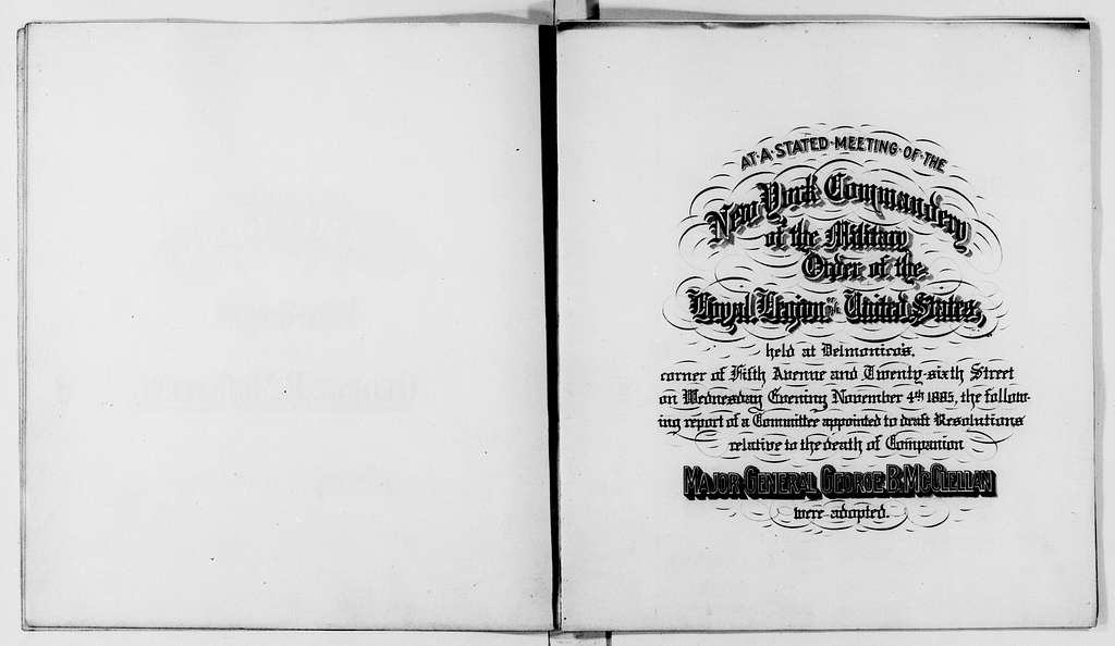 George Brinton McClellan Papers: Miscellany, 1852-1885; Material related to McClellan's death