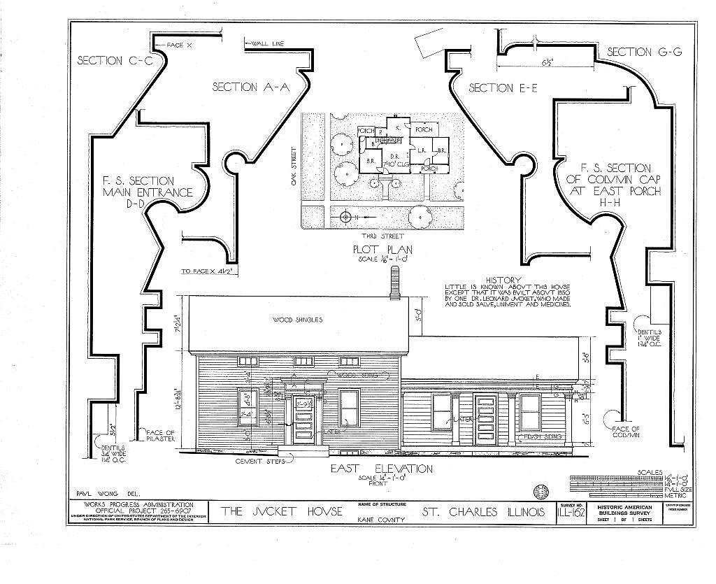 Jucket House, 110 Third Street, Saint Charles, Kane County, IL