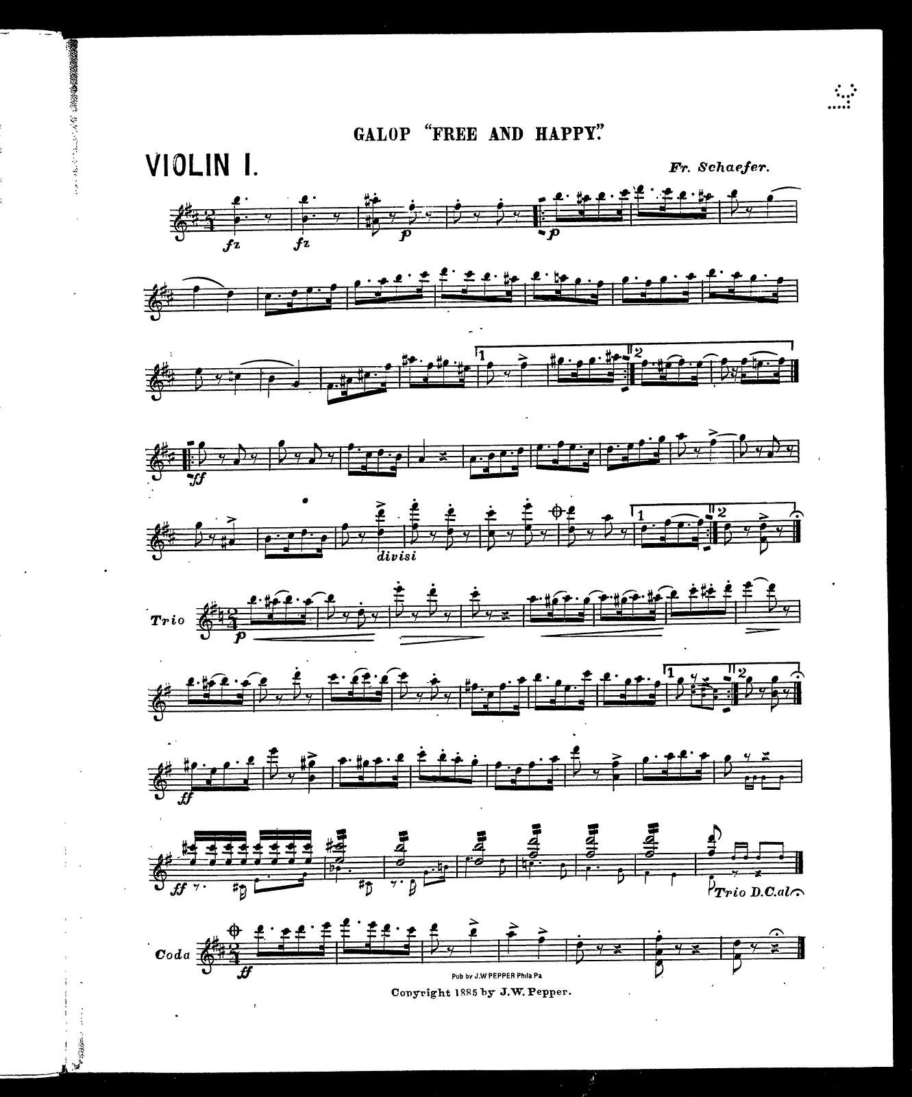 """La  Paloma; Spanish fantasia [and] Galop """"free and happy"""" [orch..]"""