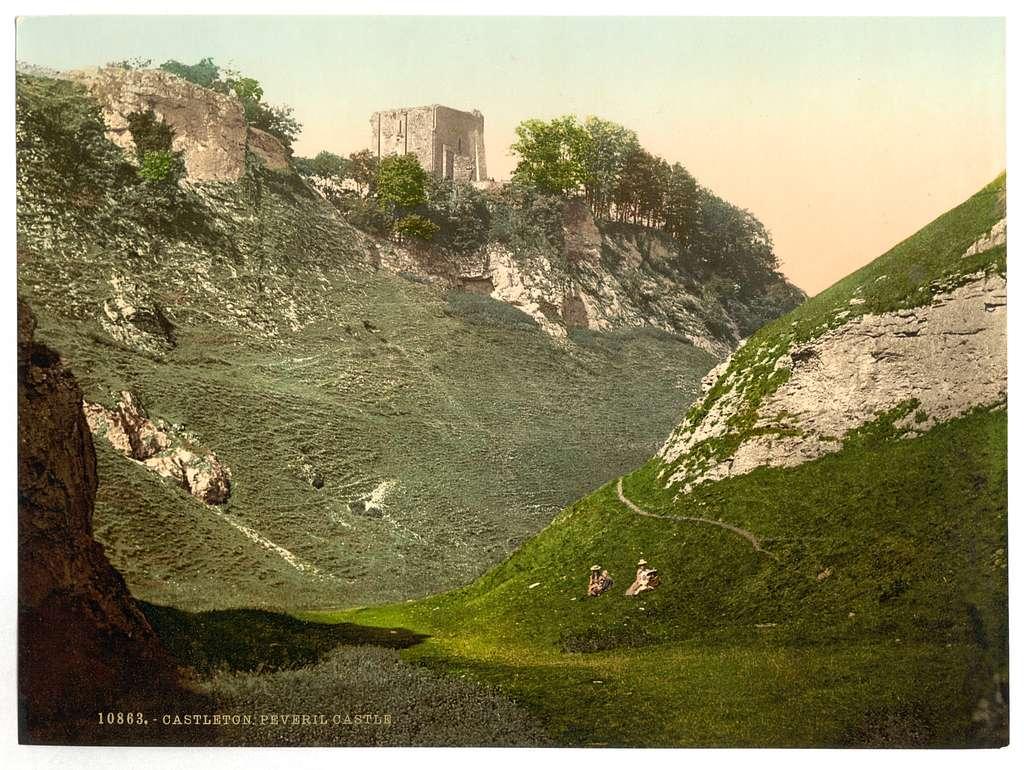 [Peveril Castle, Castleton, Derbyshire, England]