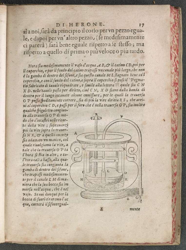 Spiritali di Herone Alessandrino, ridotti in lingua volgare da Alessandro Giorgi.