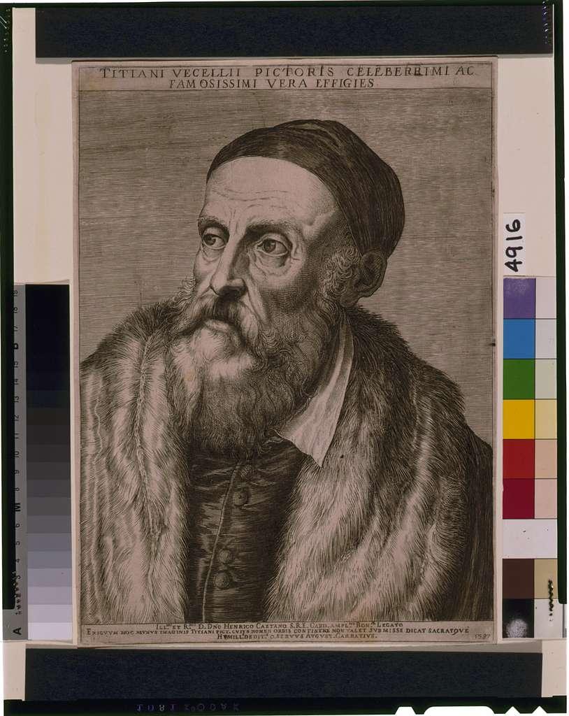 Titiani Vercellii pictoris celeberrimi ac famosissimi vera effigies