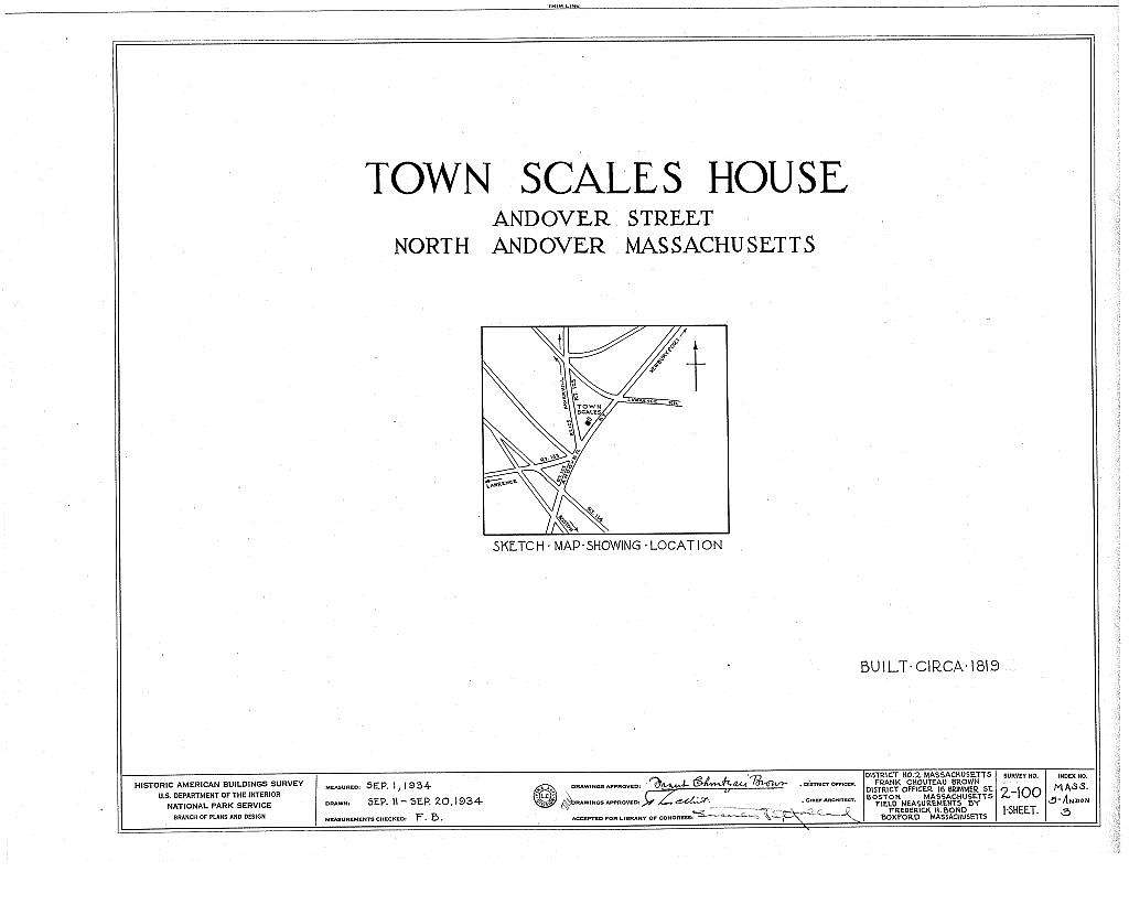 Town Scales House, Andover Street, North Andover, Essex County, MA