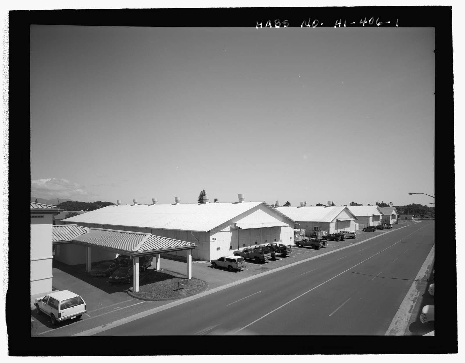 U.S. Naval Base, Pearl Harbor, Storehouse for Defense Battalion Type, Between Port Royal Street & Fuller Way, Pearl City, Honolulu County, HI