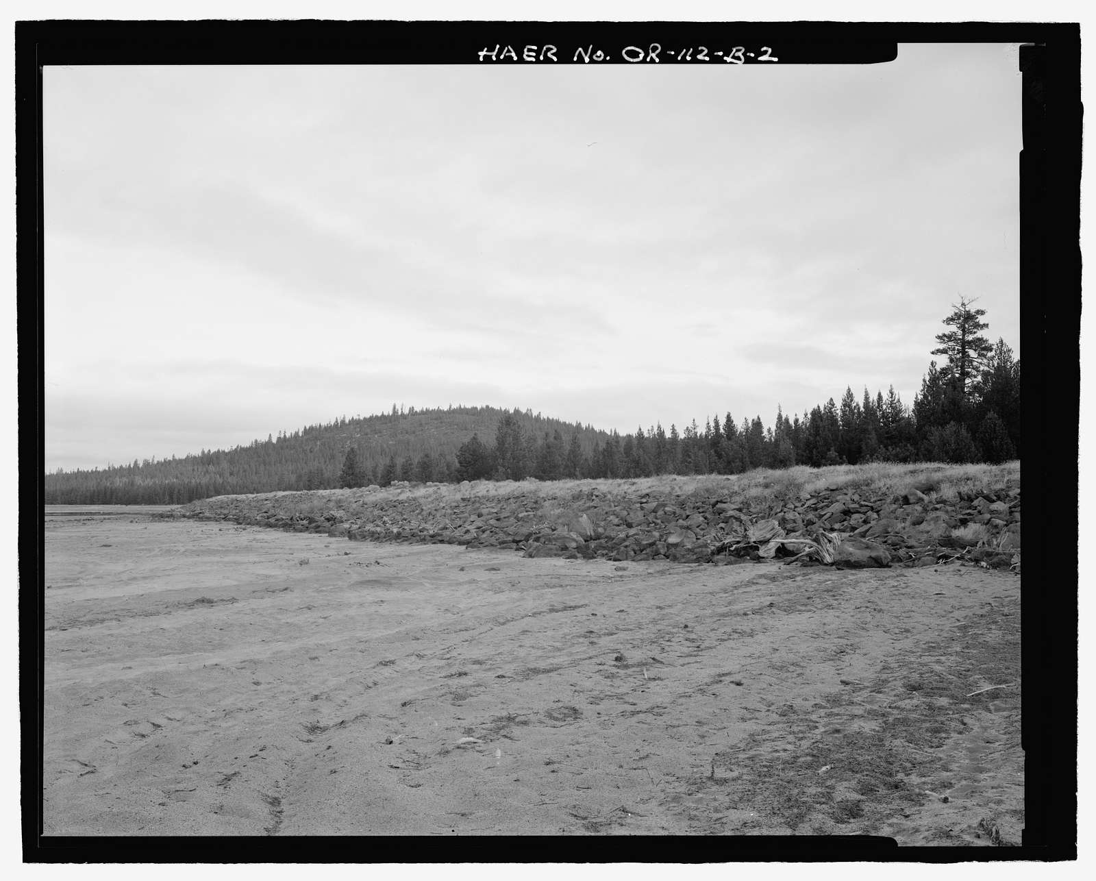 Wickiup Dam, Dikes and Spillway, Deschutes River, La Pine, Deschutes County, OR