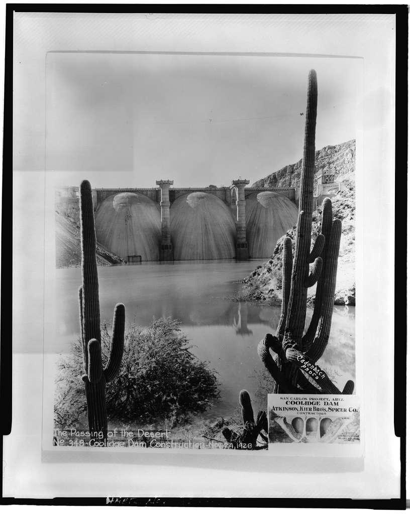 Coolidge Dam, Gila River, Peridot, Gila County, AZ