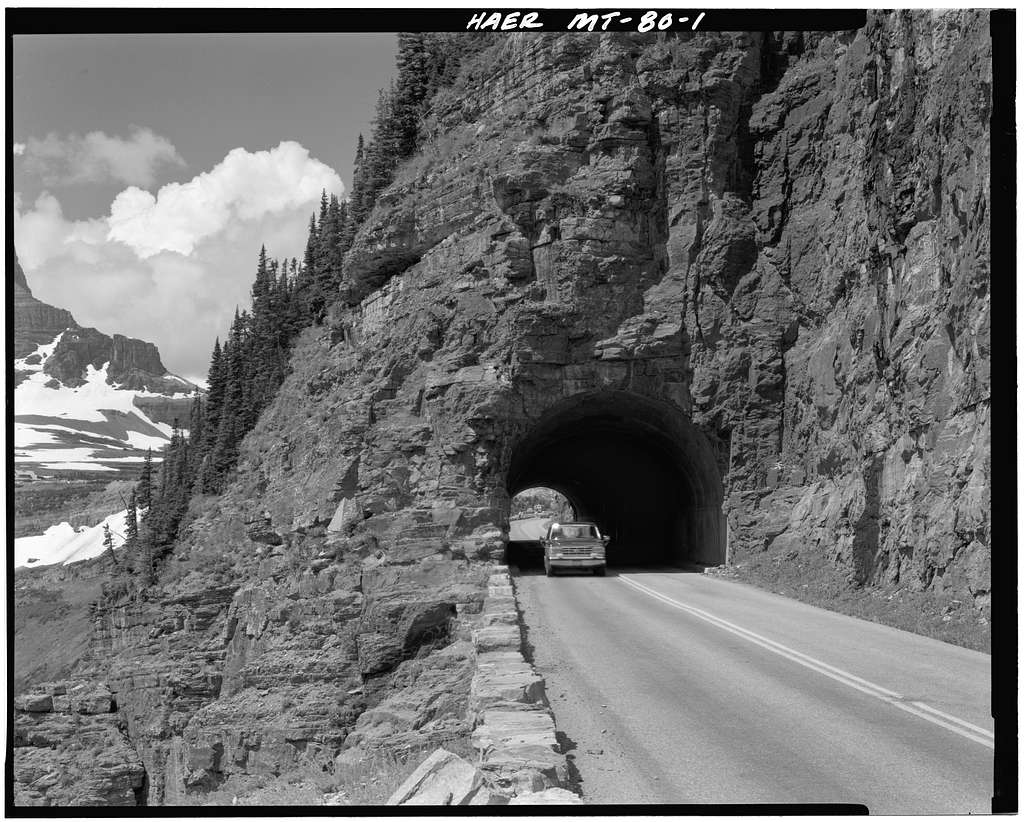 East Side Tunnel, Through Piegan Mountain at Going-to-the-Sun Road, West Glacier, Flathead County, MT