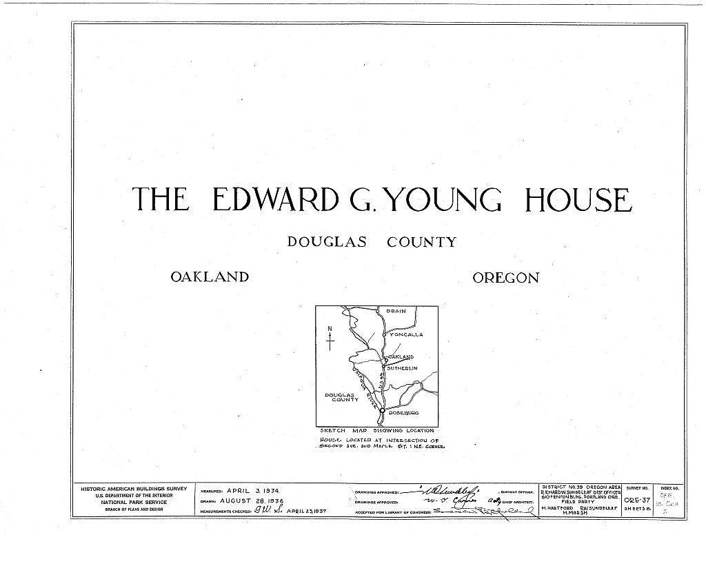 Edward G. Young House, Second Avenue & Maple Street, Oakland, Douglas County, OR